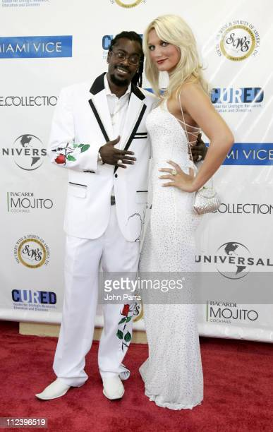 Beenie Man and Brooke Hogan during Miami Vice Miami Premiere Arrivals at Lincoln Theatre in South Beach Florida United States