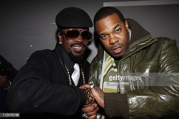 Beenie Man and Busta Rhymes attend The Dream album release party at Promenade on March 9 2009 in New York City