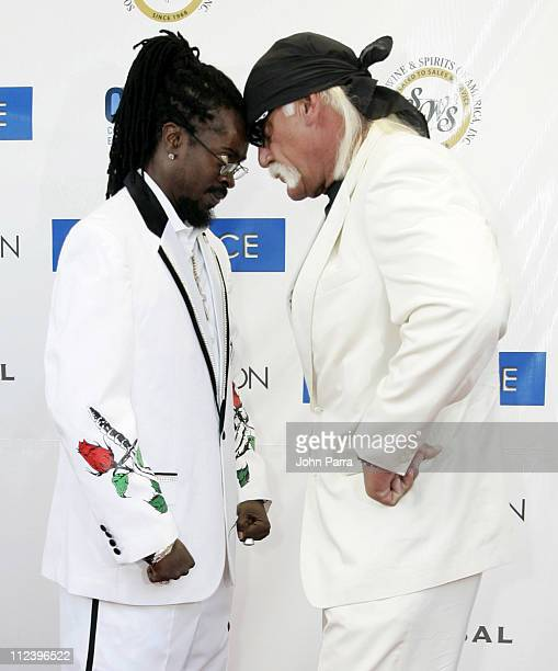 Beenie Man and Hulk Hogan during Miami Vice Miami Premiere Arrivals at Lincoln Theatre in South Beach Florida United States