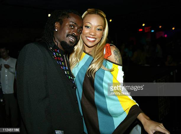 Beenie Man and Monica during Beenie Man's Back To Basics Album Release Party at Spirit in New York City New York United States