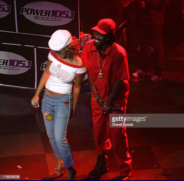 Beenie Man and Sasha during Power 1051 Two Year Birthday Party at Webster Hall in New York United States