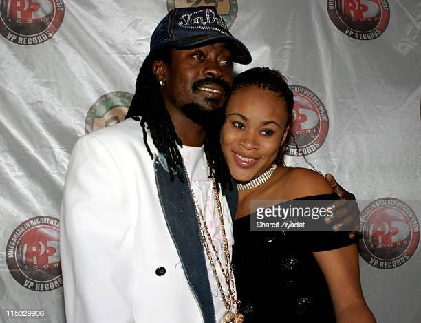 Beenie Man and Sasha during VP Records 25th Anniversary Arrivals and Concert at Radio City Music Hall in New York City New York United States
