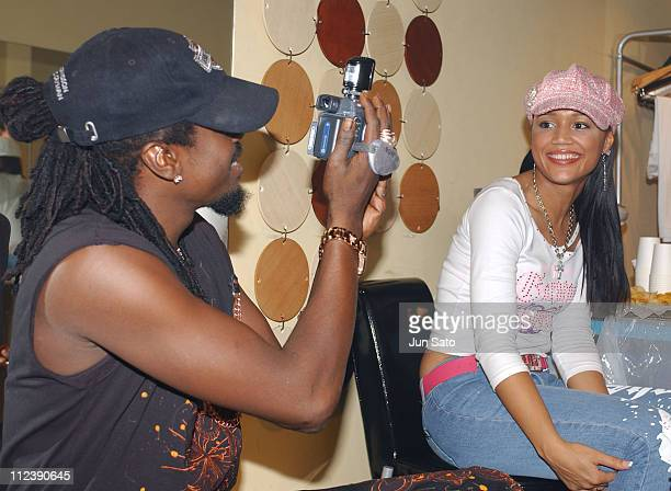 Beenie Man and Zena during Beenie Man Performs Live in Concert Backstage December 10 2004 at Duo Music Exchange in Tokyo Japan