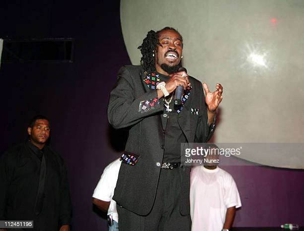 Beenie Man during Beenie Man's Back To Basics Album Release Party at Spirit in New York City New York United States