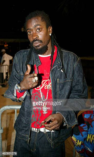 Beenie Man during Miami Spring Fest 2005 at BayFront Park in Miami Florida United States