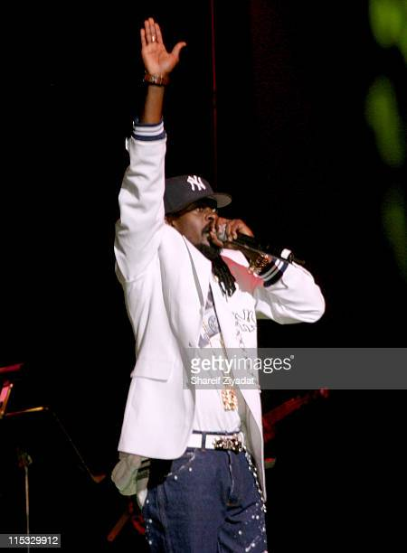 Beenie Man during VP Records 25th Anniversary Arrivals and Concert at Radio City Music Hall in New York City New York United States