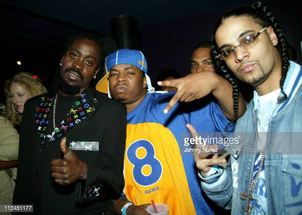 Beenie Man Saigon and Tru Life during Beenie Man's Back To Basics Album Release Party at Spirit in New York City New York United States
