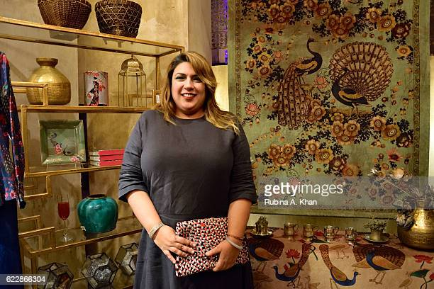 Beenu Bawa of Good Earth at the launch of master couturier Rohit Bal's first home collectibles and apparel line called HusnETaairaat at Good Earth on...