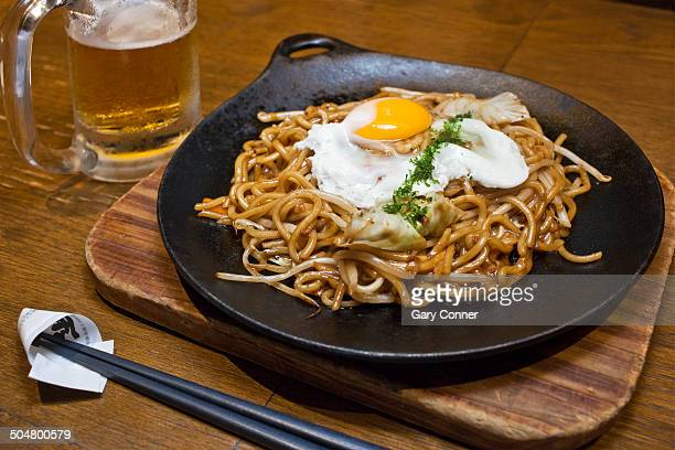 Beer and fried noodles