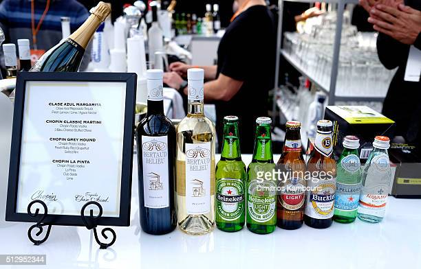 Beer and wine are served during the 24th Annual Elton John AIDS Foundation's Oscar Viewing Party at The City of West Hollywood Park on February 28...