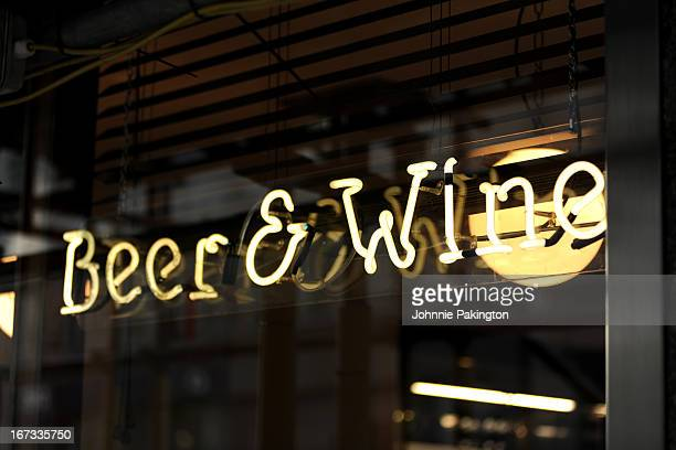 Beer and Wine Sign