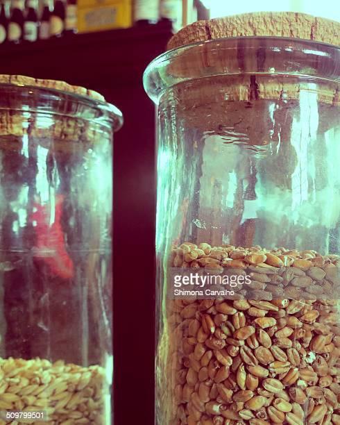 Beer Barley in jars