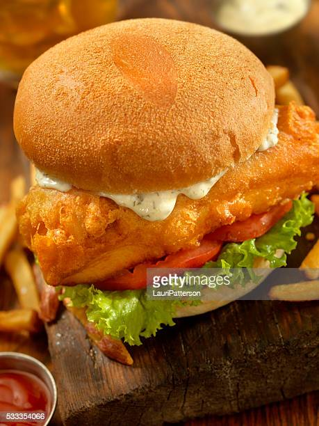 Beer Battered Fish Burger