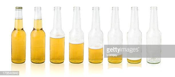 beer bottle evolution - beer bottle stock pictures, royalty-free photos & images