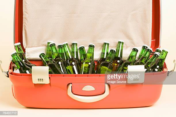 Beer bottles in a suitcase