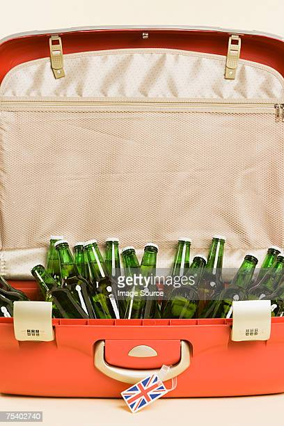 Beer bottles in a suitcase