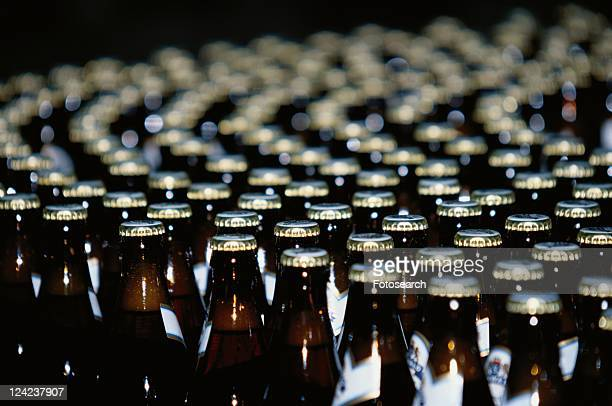 Beer Bottles In Factory