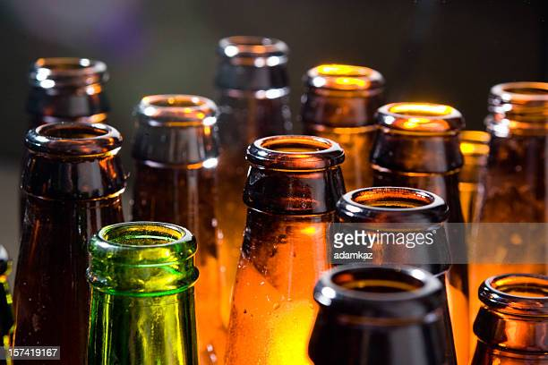 beer bottles - alcohol drink stock pictures, royalty-free photos & images
