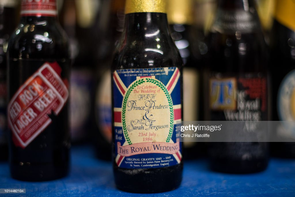 A beer comemorating a royal wedding is for sale during the Great British Beer Festival at Olympia Exhibition Centre on August 10, 2018 in London, England. The five day festival showcases over 900 real ales and craft beer and is organised by Campaign for Real Ale group CAMRA.