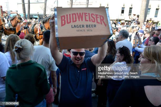 A beer delivery came with the world famous Budweiser Clydesdales as they marched down Second Street in Long Beach on Saturday March 30 2019