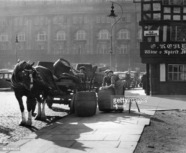 Beer delivery for the Old Shambles Manchester October 12th 1951