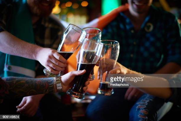 beer festival in pub - irish flag stock pictures, royalty-free photos & images