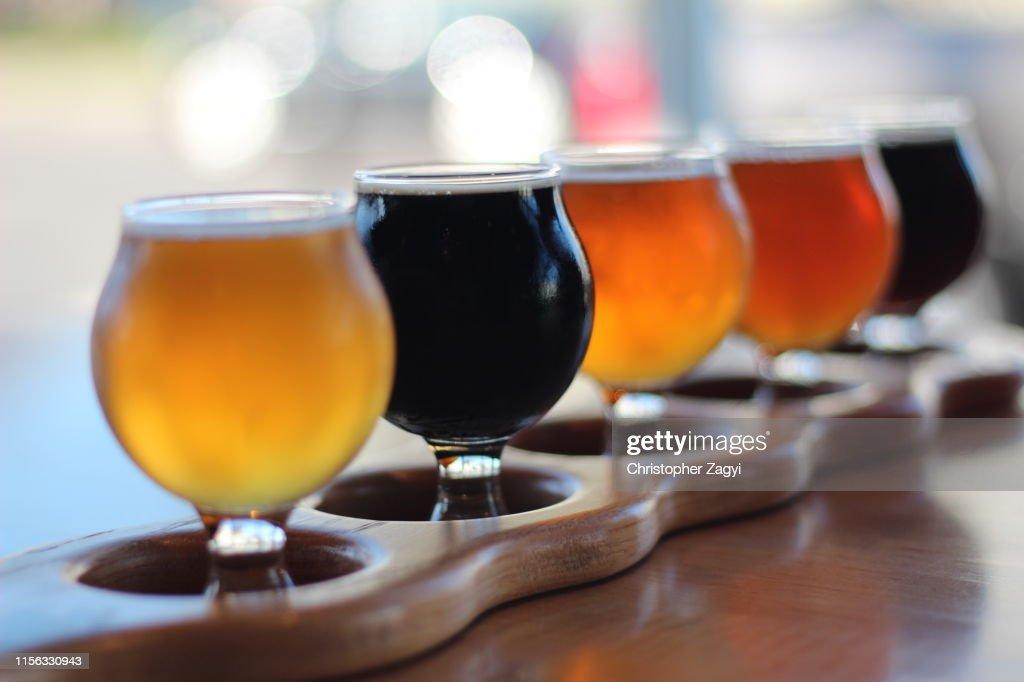 Beer Flight : Stock Photo