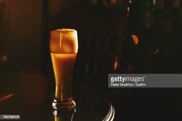 beer glass on table - fedor stock pictures, royalty-free photos & images