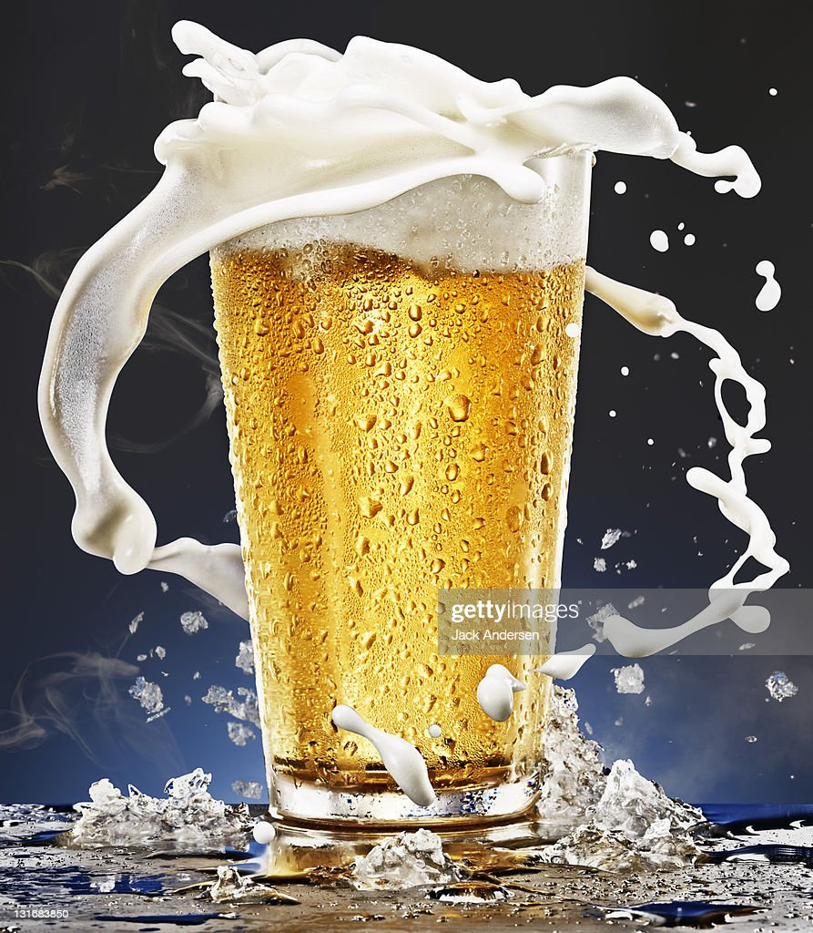 Beer Glass with Foam : Stock Photo