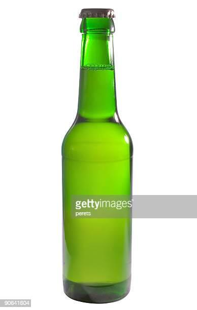 En una botella de cerveza verde