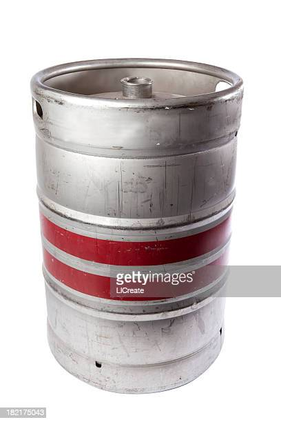 Beer Keg ready for a party, with clipping path