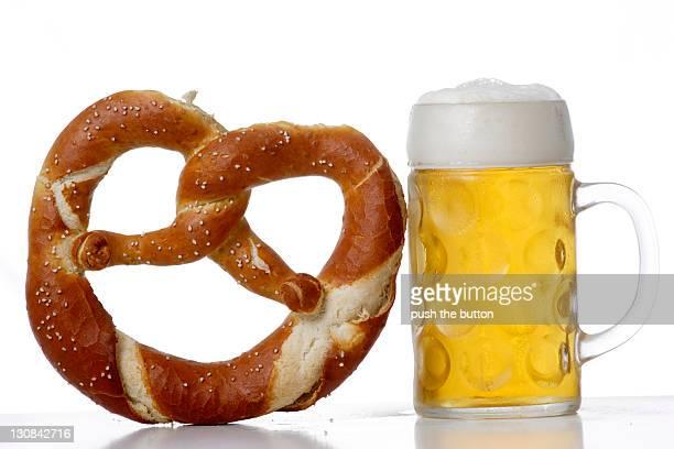 Beer, liter, stein, prezel, octoberfest