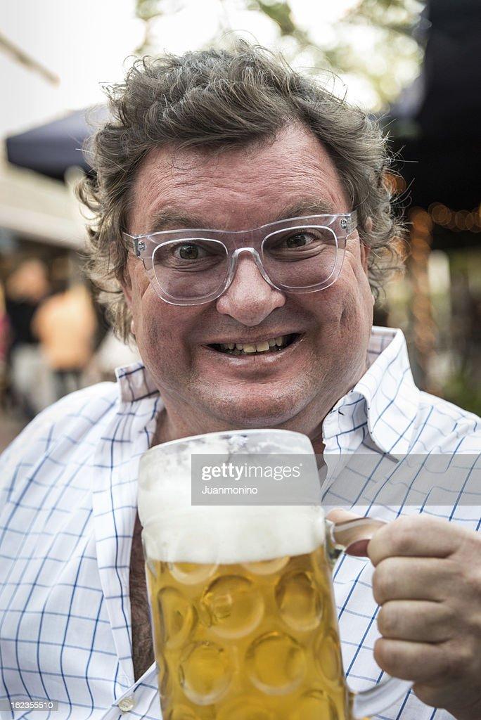 Beer lover : Stock Photo