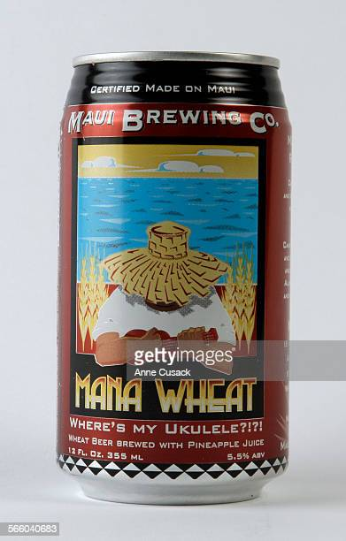 Beer of the month Mana Wheat from the Maui Brewing Co in Los Angeles times Studio on April 27 2011