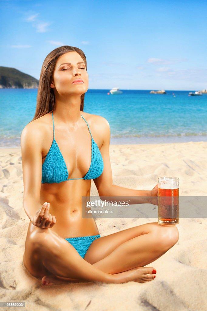 La bière sur la plage