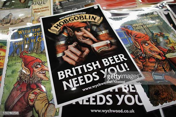Beer posters are displayed at the CAMRA Great British Beer festival on August 3 2011 in London England The 5day event is Britain's largest beer...