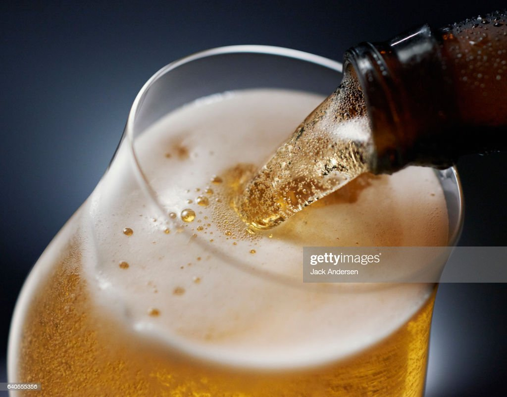 0117 Beer Pour : Stock Photo