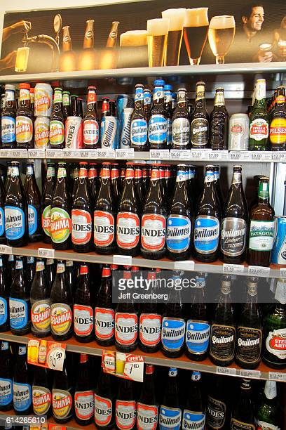 Beer retail display in a supermarket Avenida San Juan