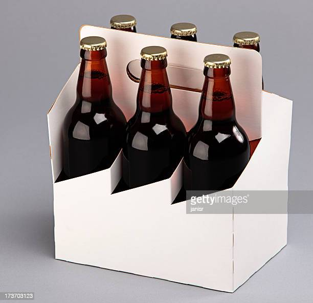 beer six pack - six pack stock photos and pictures