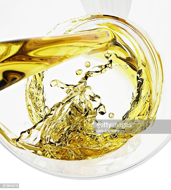 Beer Swirling into Glass