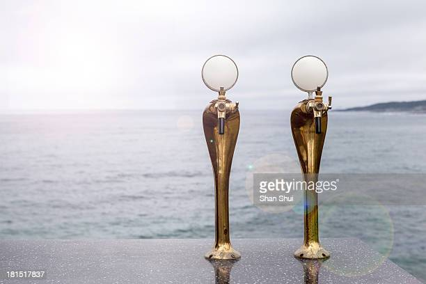 Beer tap on beach