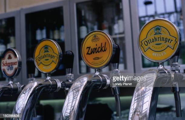 Beer taps at Palmenhaus Restaurant, Innere Stadt.