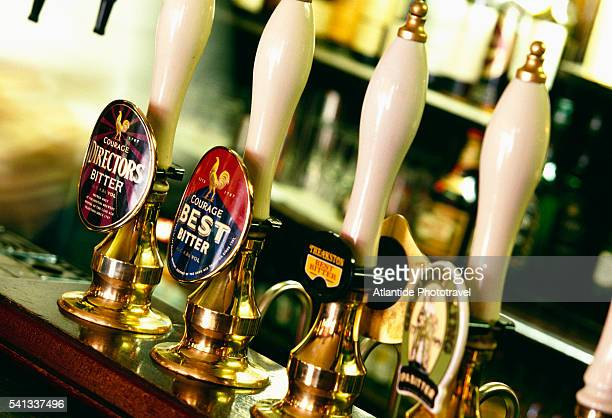 Beer Taps at Red Lion Pub