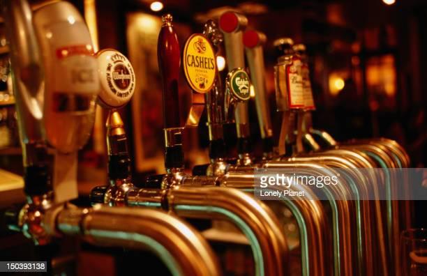 Beer taps at the Voodoo Lounge.