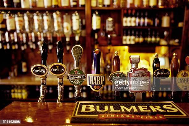 Beer Taps in Irish Pub
