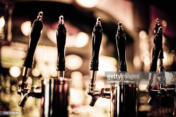 beer taps - handle stock pictures, royalty-free photos & images