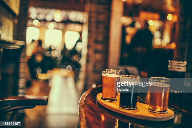 beer tasting - pub stock pictures, royalty-free photos & images