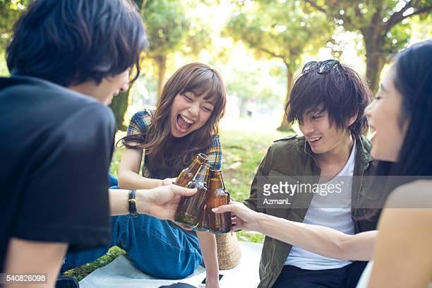 ビール、ご友人とベスト
