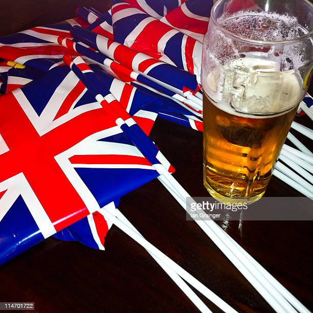 Beer with British flag