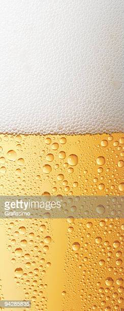 Beer with transpiration detail of glass